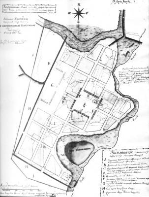 План Чембара начало 19 века - План Чембара 1797-1801.jpg
